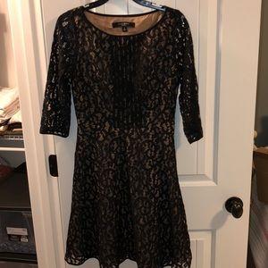 Black lace overlay Nine West Dress
